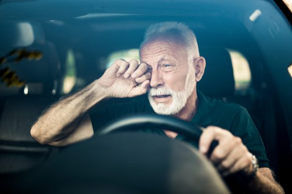 Asleep at the wheel accident